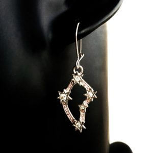 Sterling Silver Southern Cross drop earrings.