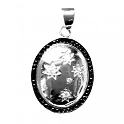 Sterling Silver pendant Southern Cross oval DOME
