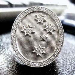 Southern Cross mens ring Sterling Silver
