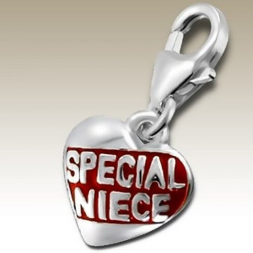 Special Niece clip on charm Sterling Silver
