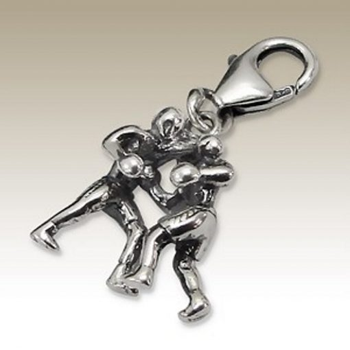 Boxing clip on charm Sterling Silver