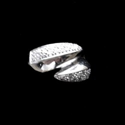 Ring clear zirconia Sterling Silver