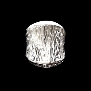Ring clear zirconia Sterling Silver AZTEC