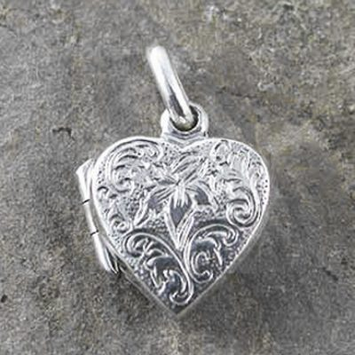 Sterling Silver engraved heart Locket