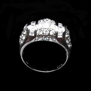 Ring clear zirconia Sterling Silver CLASSY
