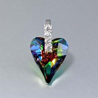 Swarovski Crystal Necklace Pendant Wild Heart Vitrail