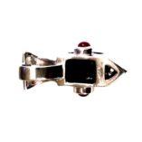 sterling-silver-pendant-smoky-quartz-rubies-omega-chain