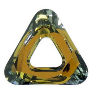 Swarovski Crystal 14mm Cosmic triangle Tabac
