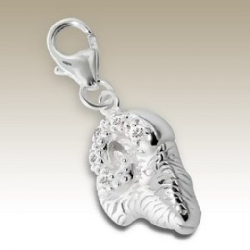 Sterling Silver zodiac sign Aries clip on charm