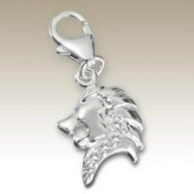 Sterling Silver zodiac sign Leo clip on charm