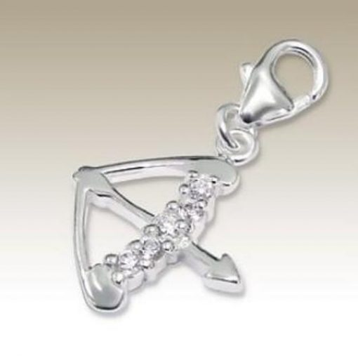 Sterling Silver zodiac sign Sagittarius clip on charm
