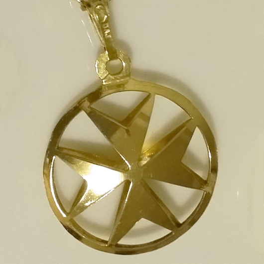 9ct gold maltese cross double sided pendant 20cm made in malta 9ct gold maltese cross double sided pendant 21mm aloadofball Image collections