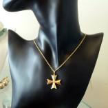 9ct-gold-maltese-cross-3D-pendant