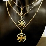 9ct-Gold-Maltese-Cross-double-sided-pendants-Curb-chain