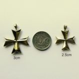 9ct-Gold-Maltese-Cross-3D-pendants-3cm-and-2.5cm