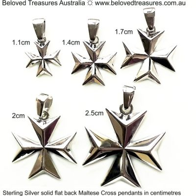 Sterling Silver Maltese Cross solid pendants