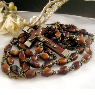 Antique rosary beads chaplet French