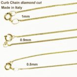 9ct-gold-curb-diamond-cut-chain-Italy
