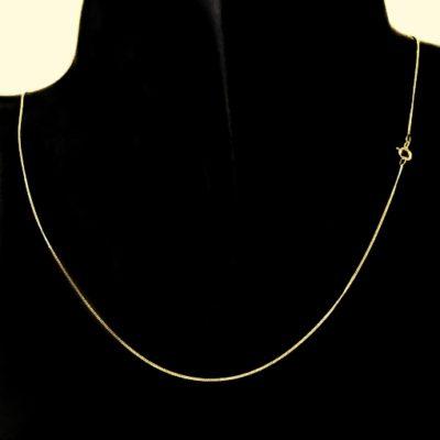 9ct Gold Curb diamond cut chain 0.8mm Italy
