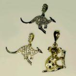 9ct-gold-Australian-kangaroo-koala-pendants