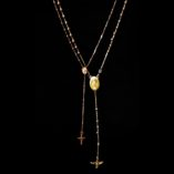 9ct-rose-gold-rosary-beads-necklace-Tri-rosary-Italy
