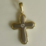 9ct-Cross-pendant-white-yellow-gold