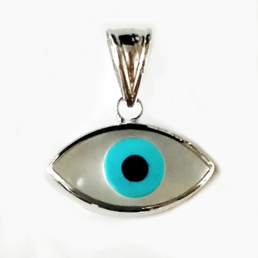 9ct white gold lucky evil eye pendant mother pearl made in europe 9ct white gold lucky evil eye pendant mother aloadofball Gallery