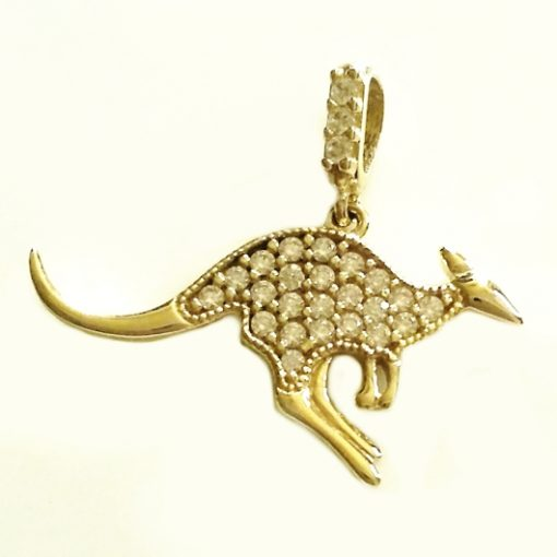 9ct Australian Kangaroo pendant Yellow gold