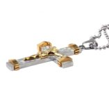 stainless-steel-crucifix-22ct-gold-plated-Jesus