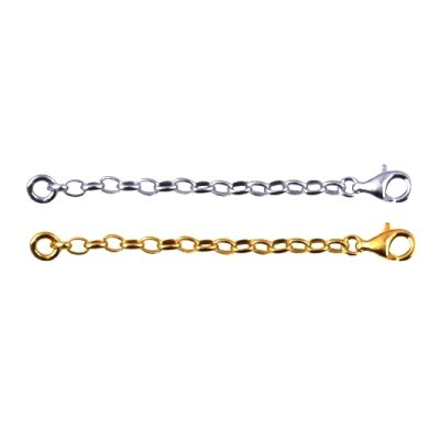 Chain extender Sterling Silver oval Belcher BO1