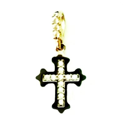 9ct Gold Orthodox Cross pendant zirconia