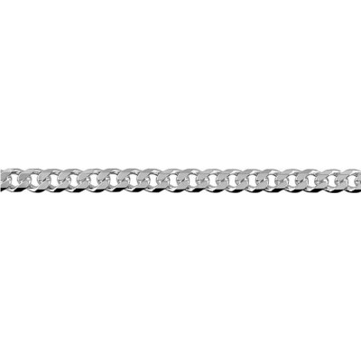 Chain Sterling Silver Curb bevelled BCD100