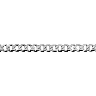 Chain Sterling Silver Curb bevelled BCD120