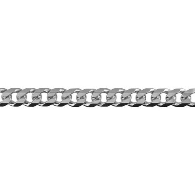 Chain Sterling Silver Curb bevelled BCD150