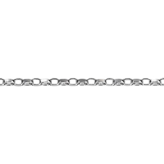 Chain Sterling Silver Belcher Diamond Cut 2 8mm 45cm Bo2d