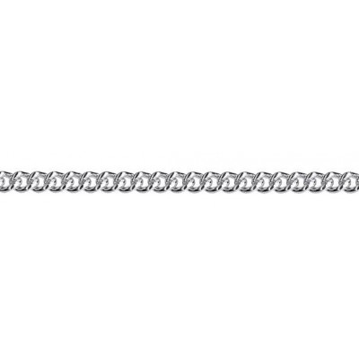 Sterling Silver 3.5mm Curb chain 50cm.