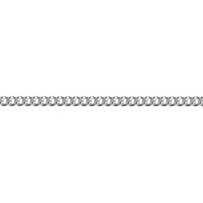 Sterling Silver 2.8mm Curb chain 45cm.