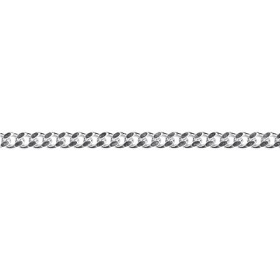 Silver diamond cut 4.2mm Curb chain 45cm.