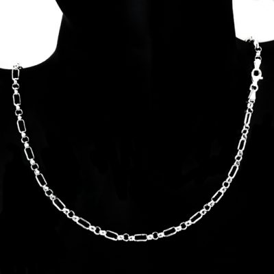 Chain Sterling Silver Figaro 13 Belcher 3.6mm 45cm Italy (FB23)