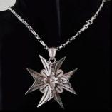 chain-sterling-silver-figaro-13-belcher-3.6mm-Italy-FB23-Maltese-Cross
