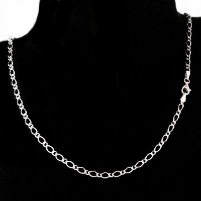 Chain Sterling Silver Figaro 11 oval 3.4mm 45cm (OF81)