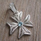 maltese-cross-filigree-bail-pendant-Sterling-Silver-2cm-turquoise