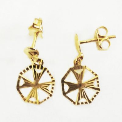 9ct Gold Maltese Cross earrings
