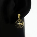 9ct-gold-maltese-cross-earrings-diamond-cut-hexagonal-100214