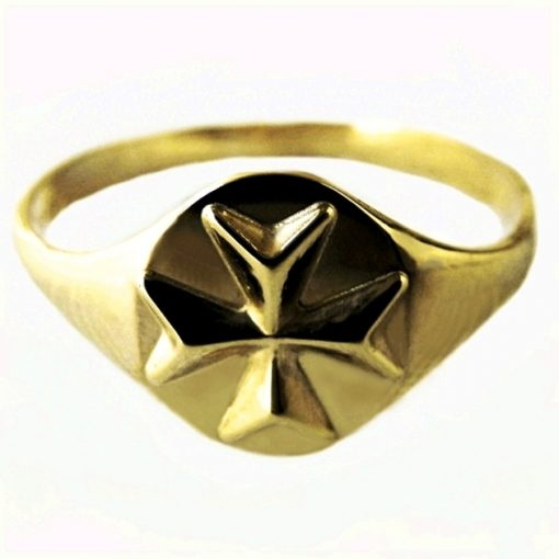 9ct Gold Maltese Cross ring Order Knights St John