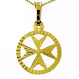 9ct-gold-maltese-cross-diamond-cut-circle-pendant-1.3cm