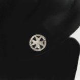18ct-white-Gold-earrings-Maltese-Cross-circle-8mm-200347