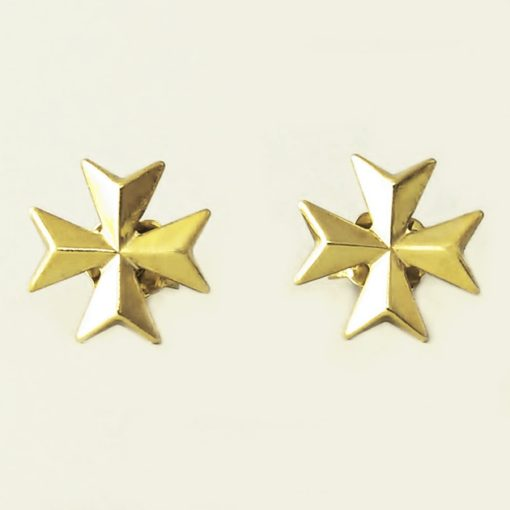 9ct Gold Maltese Cross earrings studs 1.1cm