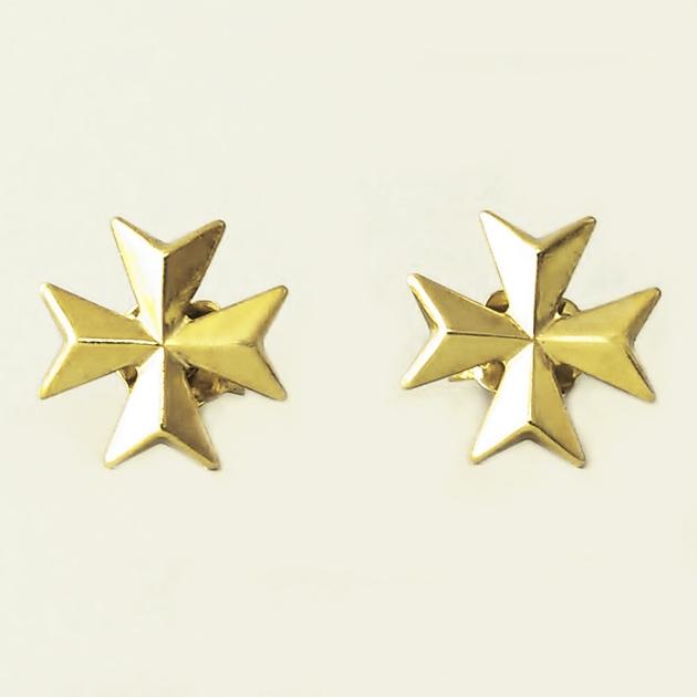 42e747d572a 9ct Gold Maltese Cross earrings studs 1.1cm