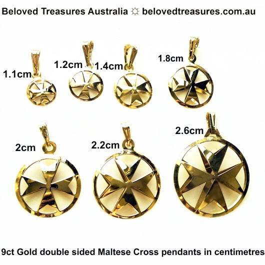 9ct gold maltese cross double sided pendant 11cm made in malta 9ct gold maltese cross double sided pendants 7 sizes in centimetres mozeypictures